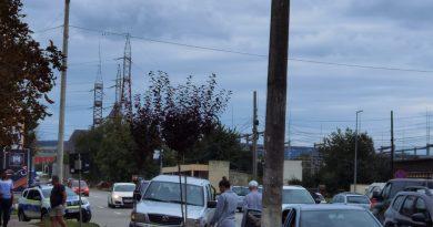 Accident rutier pe trecerea de pietoni din fața fostului RAGCL